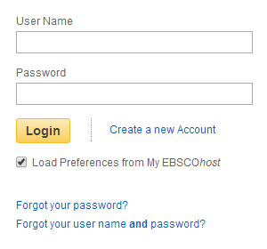 EBSCO Sign-in